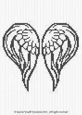 Crochet Patterns - ANGEL WINGS Graph/Chart Afghan Pattern