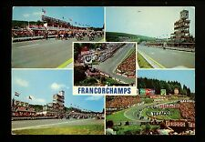 Car Auto Racing chrome postcard Formula 1 Grand Prix Francorchamps Texaco Shell