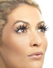 Black Eyelashes with Gold and Silver Fabric Fake False Eyelashes