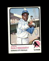John Mayberry Hand Signed 1973 Topps Kansas City Royals Autograph