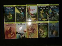 Lot of 10 Glossy Flashlight Nancy Drew HB books # 1-5 52 53 54 55 56