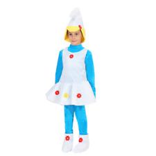 Vestito Costume Follettina Puffetta 3/4 anni Carnevale Pegasus Party