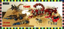 tomy zoids 1/24 model kits BUILT plastic robots movable joints battery clockwork