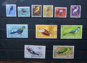 Uganda 1965 Birds values to 10s Used