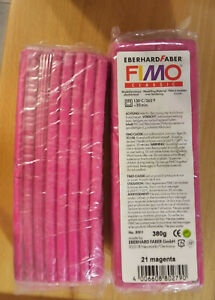 Two FIMO classic 350g blocks Polymer Modelling Oven Clay Magenta