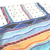 Vintage Cannon Twin Flat Sheet Retro Print Aztec Stripe Dots