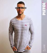 Camisetas de hombre de manga larga blancas 100% algodón