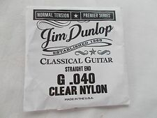 New Dunlop Premier Series Guitar String G 040 Normal Tension Straight End