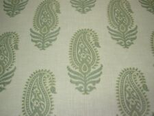 "~10 YDS~""PAISLEY"" AQUA~EMBROIDERED UPHOLSTERY FABRIC FOR LESS~"