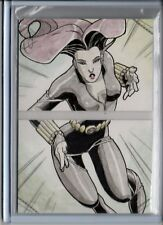 2014 Marvel Premier Two Panel Sketch Juno Sanchez/Black Widow #d 1/1
