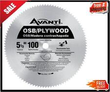 5-1/2 inch x 100 Tooth OSB/Plywood Circular Steel Saw Blade Construction