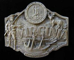 VIRGINIA STATE BELT BUCKLE VERY DETAILED NEW! BUCKLES