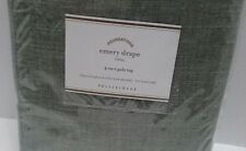 "Pottery Barn Emery Drape 96 Sage Rideau  3-in -1pole top Linen Cotton 50""X 84""in"