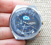 Watch USSR RAKETA 2628 H Perpetual Calendar Mechanical Vintage Wristwatch Rare