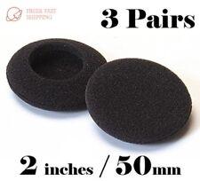 3 pairs 50mm Headphone Earphone Earbud EarPad Foam Cover Sony Logitech Senheiser