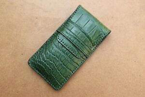 Handmade Watch Pouch Bag Real Crocodile Leather Watches Case Storage TRAVEL