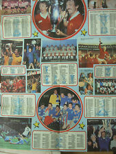 SHOOT FOOTBALL MAGAZINE - ALL TIME WINNERS POSTER 1981 - LIVERPOOL CELTIC SPURS