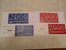 2000 P & D  Mint Set Envelope / Envelopes ONLY *NO COINS*  **FREE SHIPPING**