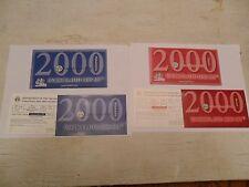 2000 P & D  Mint Set Envelope / Envelopes ONLY *NO COINS*  **FREE SHIPPING**