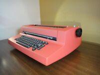 Red IBM Selectric II Electric Correcting Typewriter, Prestige Elite 72 Font Ball