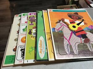 Vintage 1967 Whitman Preschool Frame Tray Puzzle Lot of 6 1960-1970's