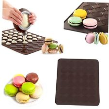 Large 30 Macarons/Muffins Silicone Baking Pastry Sheet Mat Cup Cake Mold Tray GH