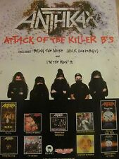Anthrax, Attack of the Killer B's, Full Page Vintage Promotional Ad
