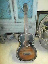 Vintage Antique Acoustic Parlor Guitar Silvertone Parts Restoration Project