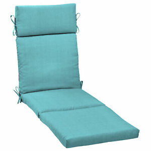 Outdoor Chaise Lounge Cushion Deep Seat Padding Patio Garden Pool UV Resistant