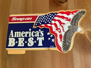 Snap-On Tool Box Reflective Gold Vintage America's Best Sticker Decal 7in Wide