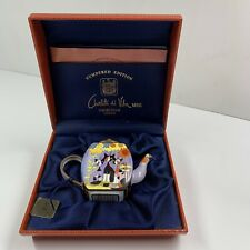 More details for charlotte di vita mbe  enamel teapot -  three cats and sunflower numbered editio