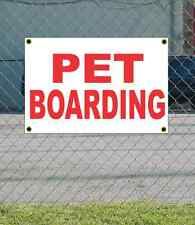 2x3 PET BOARDING Red & White Banner Sign NEW Discount Size & Price FREE SHIP