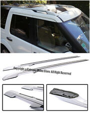 For 05-Up Land Rover Discovery LR3 LR4 Long Version Silver Top Roof Side Rails