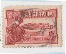(JJ-721) 1927 AU 1½d CANBERRA (DE)