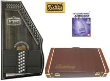 Oscar Schmidt OS73CE 1930's Reissue 21 Chord Autoharp with Pickup - Black W/Hard