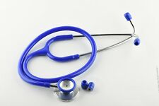 Deluxe Dual Head Stethoscope for Medical EMT Nurse Doctor Vet Student Blue CE