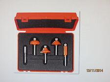 HM/HW Fräser-Set 5-teilig für Handoberfräsen D 12,7 - 31,7 mm, Schaft 6 mm