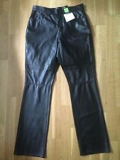 BNWT M&S Ladies Black Faux Leather Trousers @ Size 12 NEW Mock Leather Pants