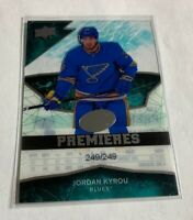B1,236 - 2018-19 Upper Deck Ice #138 Jordan Kyrou Rookie #249/249 Blues
