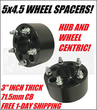 2 Jeep Hubcentric Wheel Spacers 5x4.5 | 3 Inch 1/2x20 Studs Cherokee Wrangler