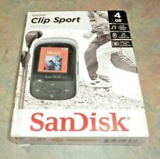 NEW SanDisk Clip Sport MP3 Player With LCD MicroSDHC Slot 4GB NEW 11