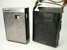 Vintage Sony All Transistor Radio Model 2R-29 Powers Up! Nice Case!