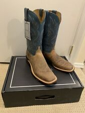 New! $575 Lucchese Sz 11 Norman Sand/Mallard Wild Boar Cowboy Boots. Made In USA