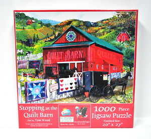 Stopping at the Quilt Barn Jigsaw Puzzle 1000 Piece