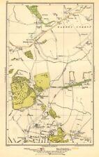 LONDON. Arkley, Barnet Gate, Highwood Hill, Mill Hill 1923 old vintage map