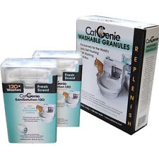 CatGenie 120 Self-Cleaning Litter Box Sani Solution and Granules Refill Package