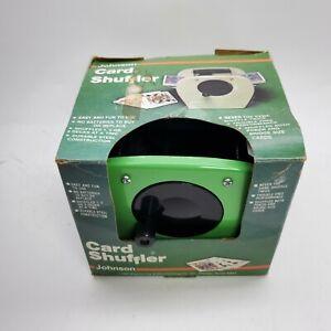 Vintage 1980's Johnson Card Shuffler 9000 Hand Crank Heavy Duty **USA**