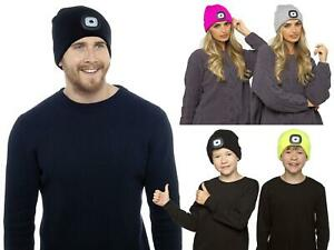 Knitted Beanie Hat with Hands Free Light Up LED