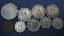 Silber Lot Schweiz 2 Fr. 1960 vz, 3x1 Fr. 1/2 Fr. 20,10+2 Rappen 1914 vz-(RG186)