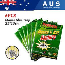 6PCS Rat Mice Mouse Rodent Bug Cockroach Snare Glue Catcher Sticky Boar
